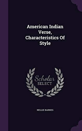 9781348156833: American Indian Verse, Characteristics Of Style