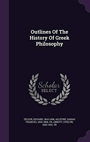 9781348165675: Outlines Of The History Of Greek Philosophy