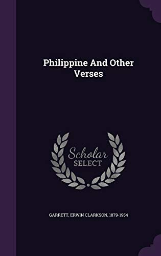 9781348190820: Philippine And Other Verses