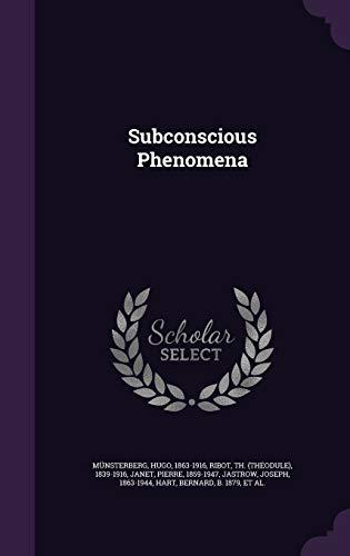 9781348202486: Subconscious Phenomena