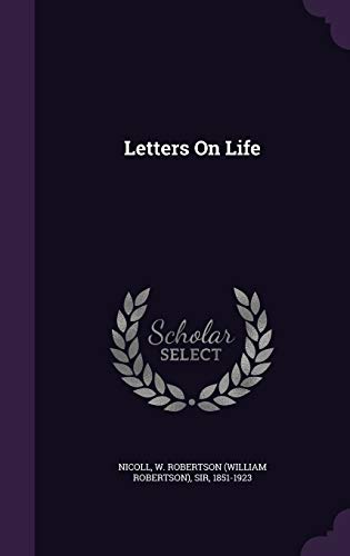 9781348213185: Letters On Life