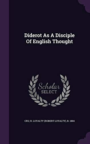 9781348220152: Diderot As A Disciple Of English Thought