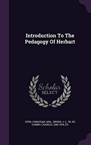 9781348240693: Introduction To The Pedagogy Of Herbart
