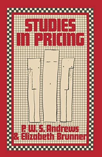 9781349027170: Studies in Pricing
