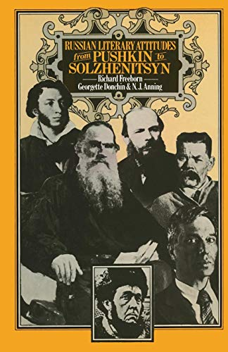 9781349028603: Russian Literary Attitudes from Pushkin to Solzhenitsyn