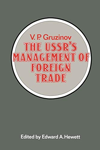 9781349048342: The USSR's Management of Foreign Trade