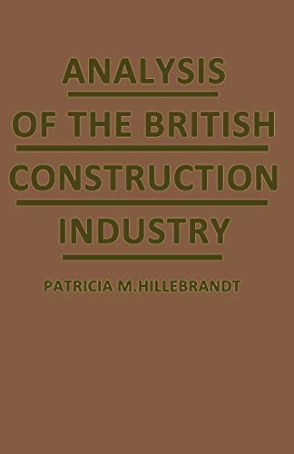 9781349066629: Analysis of the British Construction Industry