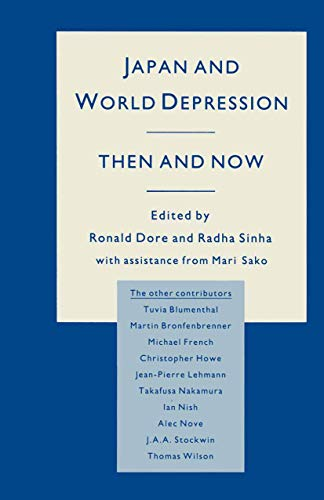 9781349075225: Japan and World Depression: Then and Now