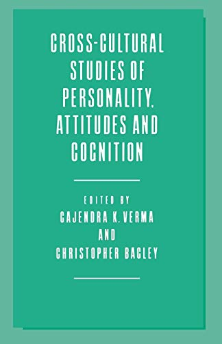 9781349081226: Cross-Cultural Studies of Personality, Attitudes and Cognition