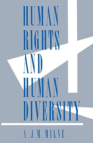 9781349084302: Human Rights and Human Diversity: An Essay in the Philosophy of Human Rights