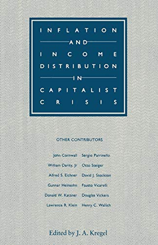 Inflation and Income Distribution in Capitalist Crisis: J.A. KREGEL