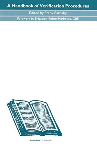 9781349110438: A Handbook of Verification Procedures