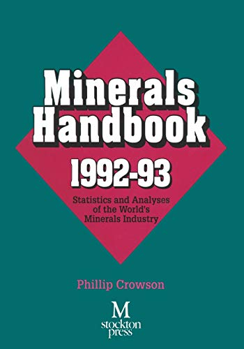 9781349125661: Minerals Handbook 1992–93: Statistics and Analyses of the World's Minerals Industry
