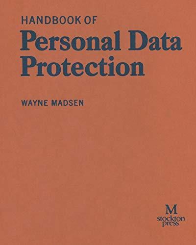 Handbook of Personal Data Protection: WAYNE MADSEN
