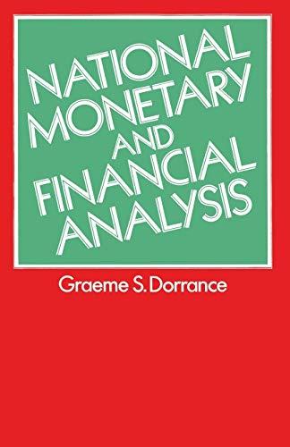 9781349158607: National Monetary and Financial Analysis