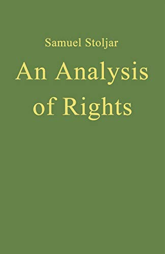 9781349176090: An Analysis of Rights