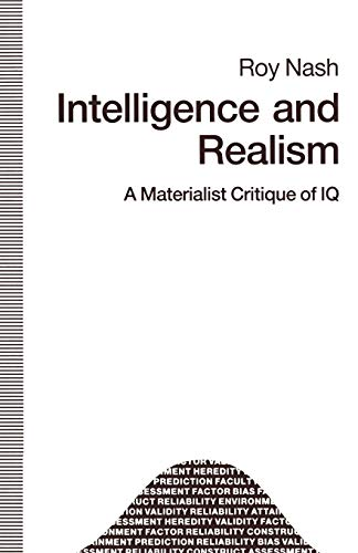9781349211456: Intelligence and Realism: A Materialist Critique of IQ