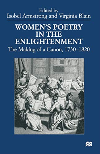 9781349270262: Women's Poetry in the Enlightenment: The Making of a Canon, 1730–1820