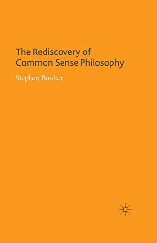 9781349280636: The Rediscovery of Common Sense Philosophy