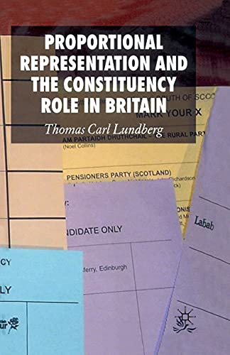 9781349282357: Proportional Representation and the Constituency Role in Britain