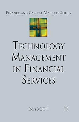9781349282586: Technology Management in Financial Services (Finance and Capital Markets Series)