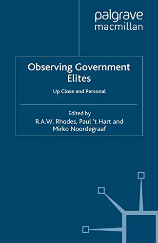 9781349284054: Observing Government Elites: Up Close and Personal