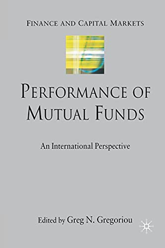 9781349285396: Performance of Mutual Funds: An International Perspective (Finance and Capital Markets Series)