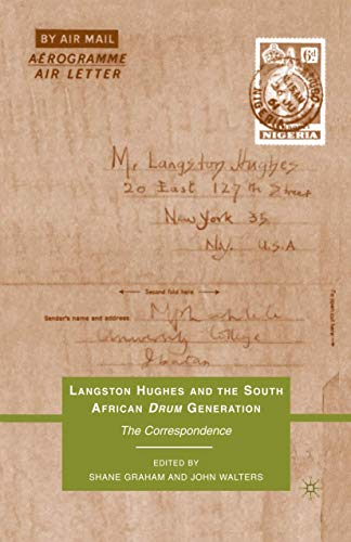 9781349287499: Langston Hughes and the South African Drum Generation: The Correspondence