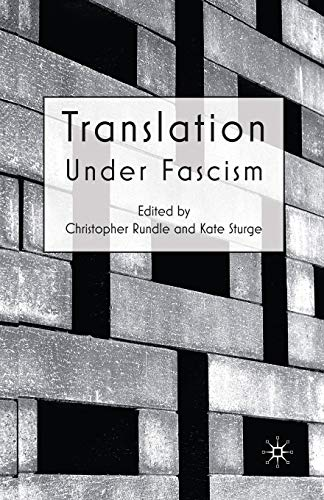 9781349301386: Translation Under Fascism