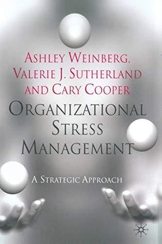 9781349301577: Organizational Stress Management: A Strategic Approach