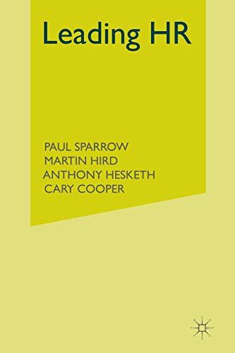 9781349308163: Leading HR