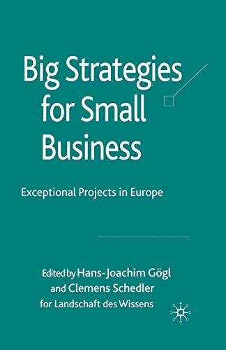 9781349308491: Big Strategies for Small Business: Exceptional Projects in Europe