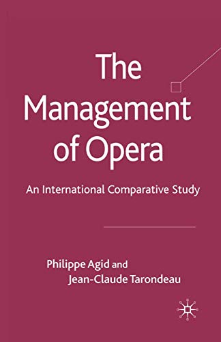 9781349319831: The Management of Opera: An International Comparative Study