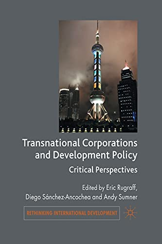9781349358809: Transnational Corporations and Development Policy: Critical Perspectives (Rethinking International Development series)