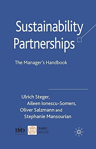 9781349359790: Sustainability Partnerships: The Manager's Handbook