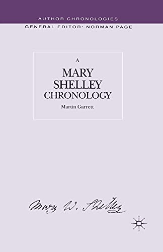 9781349415175: A Mary Shelley Chronology (Author Chronologies Series)
