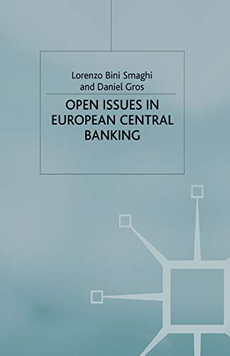 9781349418138: Open Issues in European Central Banking