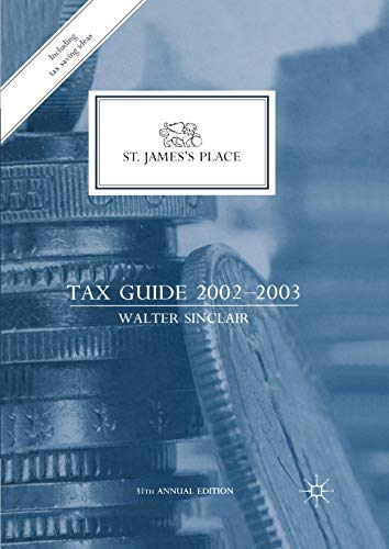 9781349426027: St. James's Place Tax Guide 2002–2003