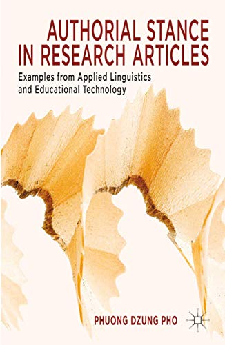9781349441266: Authorial Stance in Research Articles: Examples from Applied Linguistics and Educational Technology