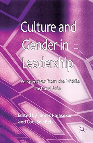 Culture and Gender in Leadership 2013: James Rajasekar