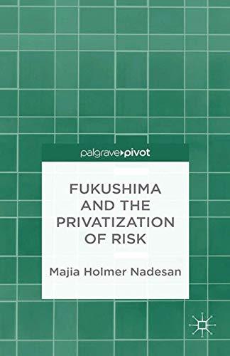 9781349465491: Fukushima and the Privatization of Risk (Palgrave Pivot)