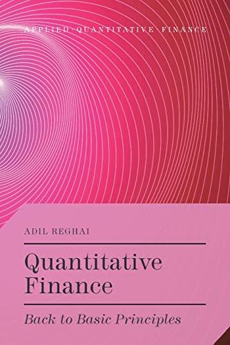 9781349490288: Quantitative Finance: Back to Basic Principles