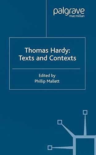 9781349507665: Thomas Hardy