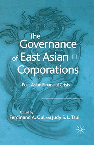 9781349522378: The Governance of East Asian Corporations: Post Asian Financial Crisis