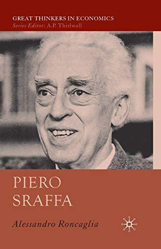 9781349541454: Piero Sraffa (Great Thinkers in Economics)