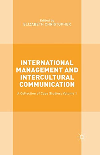 9781349563814: International Management and Intercultural Communication: A Collection of Case Studies; Volume 1