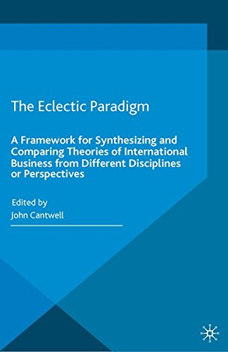 9781349574971: The Eclectic Paradigm: A Framework for Synthesizing and Comparing Theories of International Business from Different Disciplines or Perspectives
