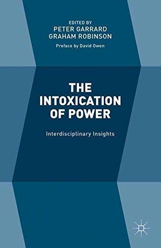 9781349576043: The Intoxication of Power: Interdisciplinary Insights
