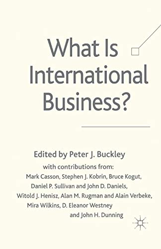 9781349723935: What is International Business?