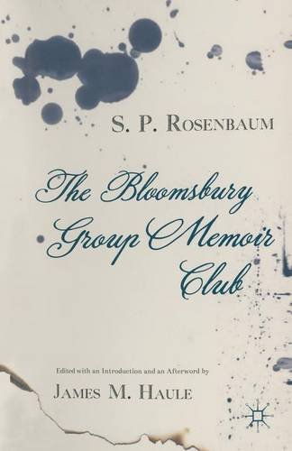 9781349999958: The Bloomsbury Group Memoir Club